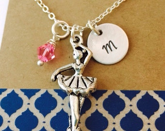 Ballerina Charm Necklace, Dancer Necklace, Ballet Gift, Dance Team Necklace , Dance Teacher Necklace, Gift