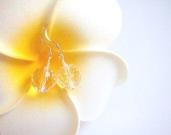 Sterling Silver Crystal Earring, 925 Silver Earring, Swarovski Crystal  Earring, Wedding Jewelry, Bridal Jewelry, Wedding Gift