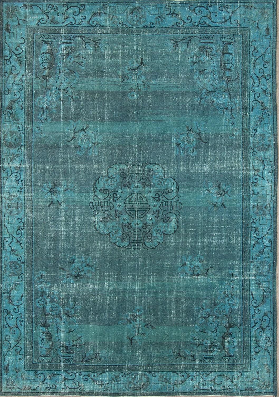 9 8 6 9 ft 300 210 cm vintage blue blau overdyed handmade unique rug free shipping cs60 haute. Black Bedroom Furniture Sets. Home Design Ideas