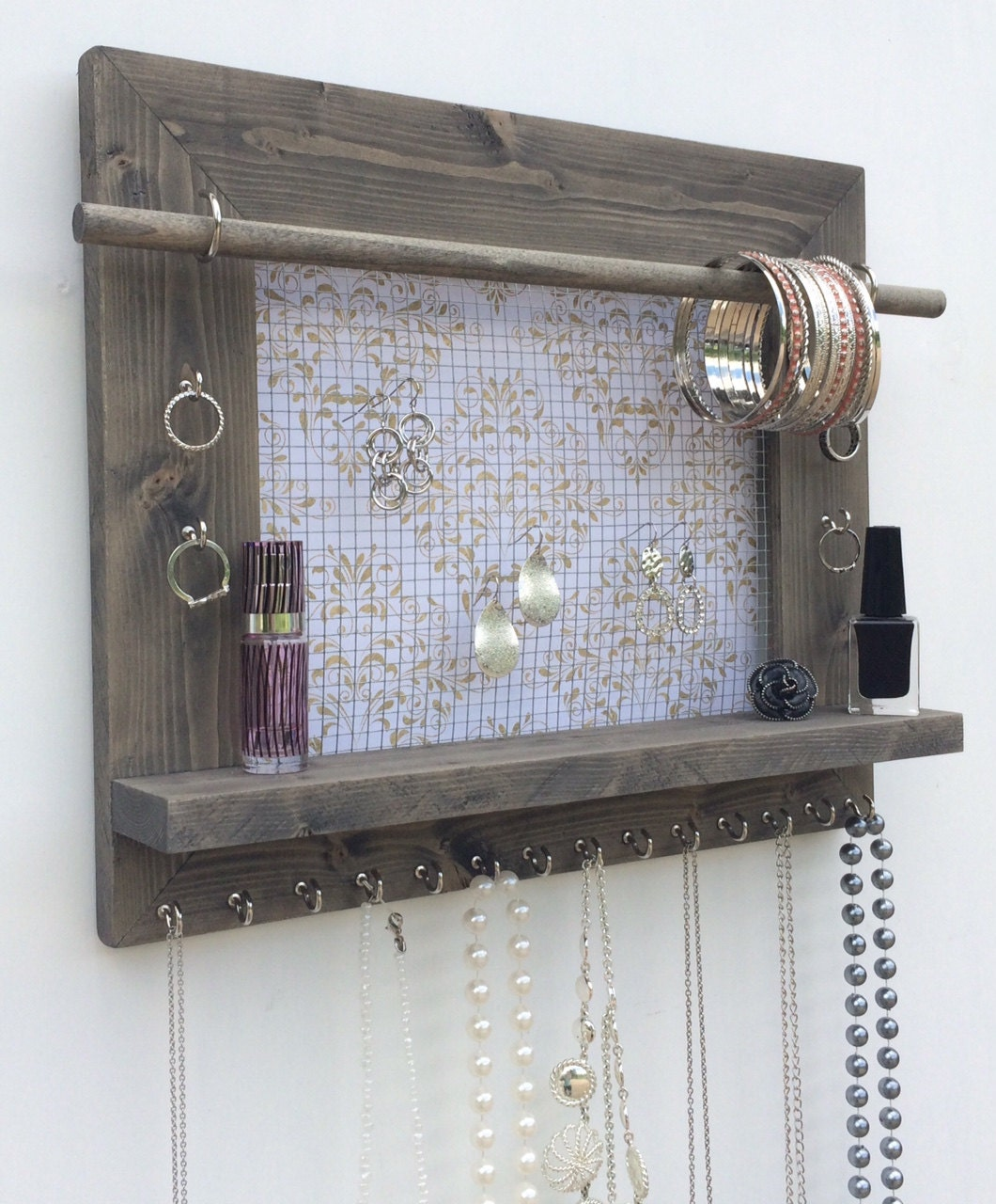 jewelry organizer free shipping large wood wall by