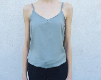 Silk Looking Cami Singlet Top