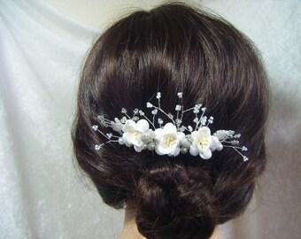 Wedding Bridal Hair Comb cherry blossom