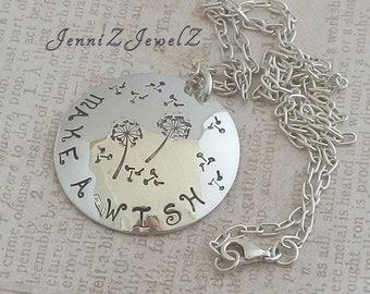 Make a Wish Stamped Pendant