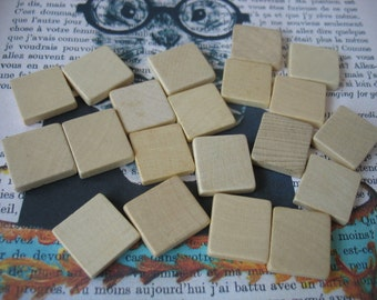 20 vintage blank Scrabble tiles, unmarked original Scrabble pieces
