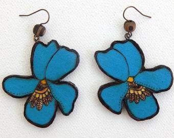Blue Violet Earrings - Handmade & Eco-friendly
