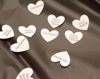 Wedding Party in a BOX!  Custom Confetti, Banner, Signs