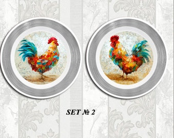 Rooster decor, rooster art, vintage rooster, rooster kitchen, kitchen decor, country kitchen, farmhouse kitchen, kitchen design