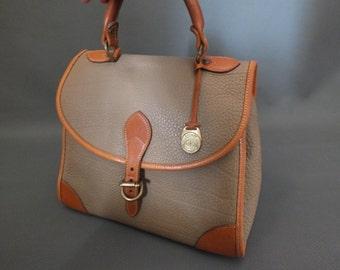 Vintage Dooney and Bourke Tan Brown Pebble Leather Handbag Purse Bag
