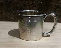 Antique Collectible The PAIRPOINT Silver Plate Baby Christening Cup B428