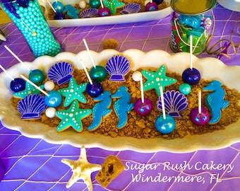 Mermaid and Sea themed Cookies
