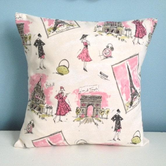 Paris Eiffel Tower Pillow 16 X 16: Eiffel Tower Pillow. Waverly Tres Chic Paris Pillow Cover