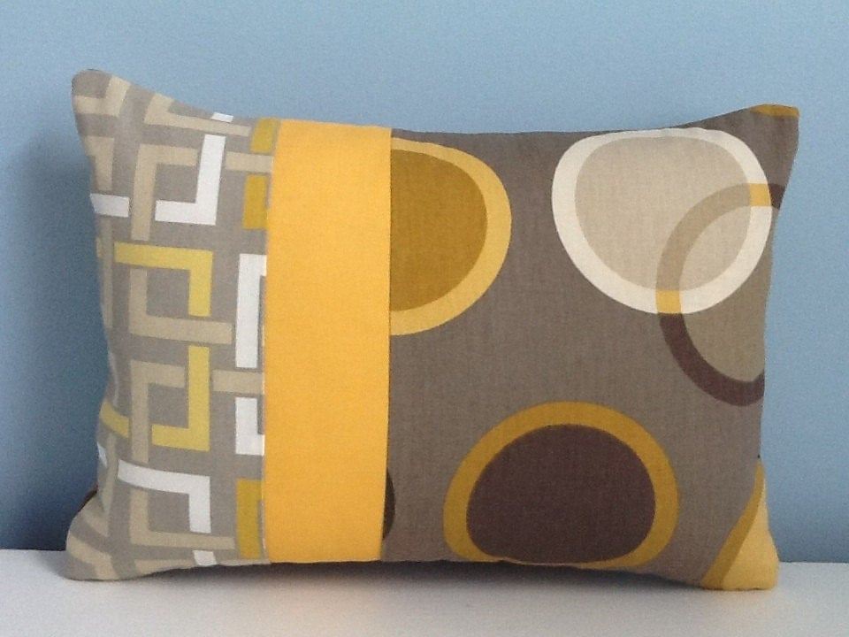Mid Century Modern Pillow Covers : Mid century modern pillow cover. Brown & gold by sterlingstitchery