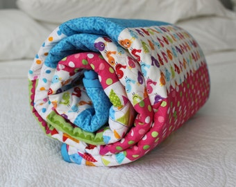 Girly Bird Baby Girl or Children's Quilt