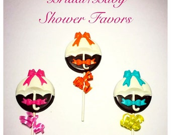 12 Homemade Belgian Chocolate Shower Lollipops
