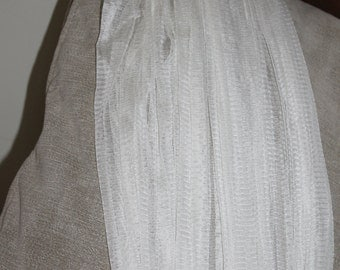 SALE Vintage Wedding Veil, Comb on the Head, Attaches to Veil, Very Long Veil, Weddings, Gift, Accessory, Clothing, Wedding Clothing
