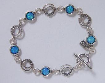 shablool sterling silver 925 Bracelet with opal stone b1026