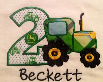 Tractor Birthday T-shirt