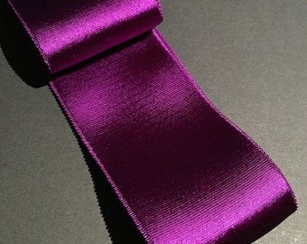 Purple Satin Faced Vintage Grosgrain - 5cm - USA