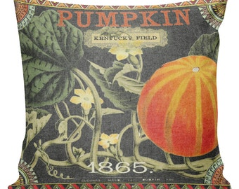 Cushion Pillow Fall Pumpkin Autumn Gift Cotton and Burlap #RQ0055 RavenQuoth All Hallow's Eve Home Decor