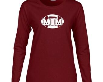 Football Mom Long Sleeve T Shirt. Womens Long Sleeve T Shirt. Proud Parent. Sports T Shirt. Football Shirt. Football Mom Tee. D130