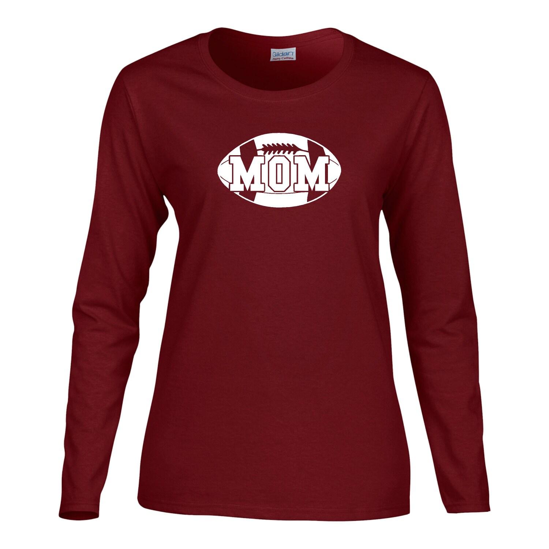 Football mom long sleeve t shirt womens long sleeve t shirt for Long sleeve womens t shirts