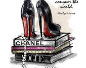 Give a Girl the Right Shoes, Printable Art