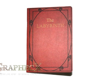 Fan-made The Labyrinth Red Book inspired personalized journal notebook