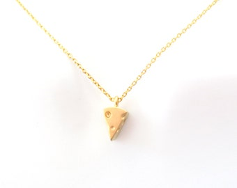 Cute, Cheese, Gold, Necklace, Food, Necklace, Cheddar, Cheese, Jewelry, Mouse, Favorite, Yummy, Cheese, Birthday, Lovers, Friends, Gift