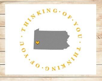 Printable Pennsylvania Stationary - Printable, DIY Pennsylvania Stationery - Steelers Gift