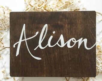 Bridesmaid Gift // CUSTOM Personalized Wooden Bridesmaid // Birthday // Gift Box, Large