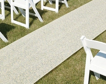 Floral Wedding Aisle Runner White or Ivory