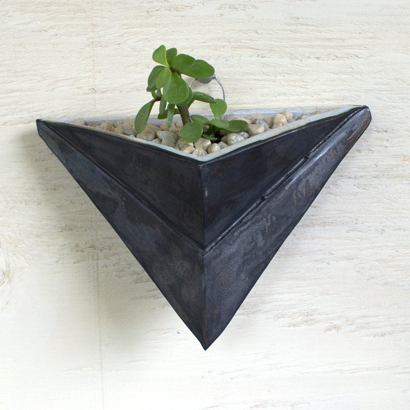 Small Ceramic Wall Hanging Planter By Carlahughesart On Etsy