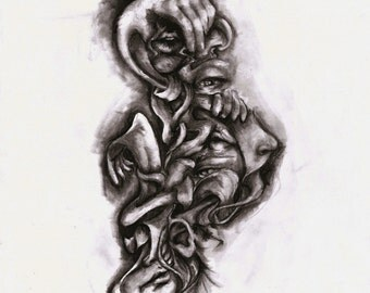 """Art Print: """"Hands and Faces 1"""" 