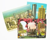 Atlanta Georgia Vintage Postcards (3) Peachtree Hotel Plaza Memorabilia Lot of 3 unused Postcards Travel Souvenir Momento P137