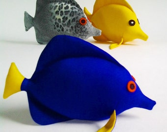 Fish Easy Sewing Pattern, Plush Toy Pattern and tutorisl, Kawaii fish pattern
