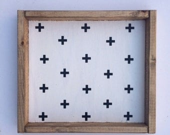 Swiss Cross Pattern Sign