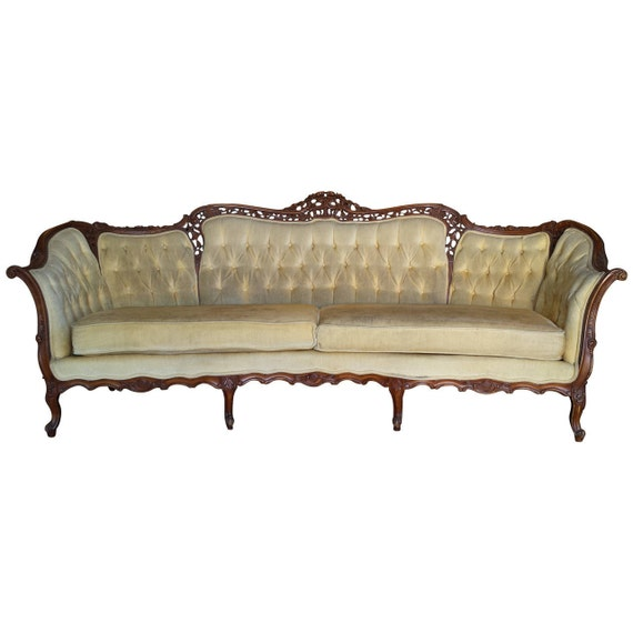 French Sofa Vintage Sofa Farmhouse Cottage by FabulousandFrench