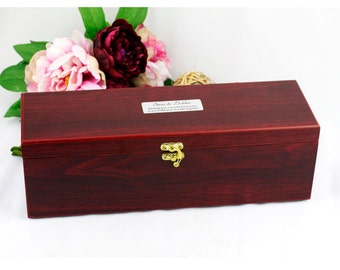 Personalised Wedding Wine Box Gift