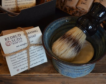 Shaving Set -- All Natural Old-Fashioned Shave Kit by Redbud Suds