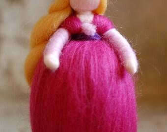 Amy, Waldorf inspired tale, wool