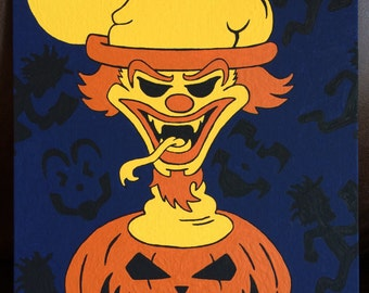 Original Icp Juggalo Hatchetman Halloween Decor Hallowicked Riddlebox Canvas Painting