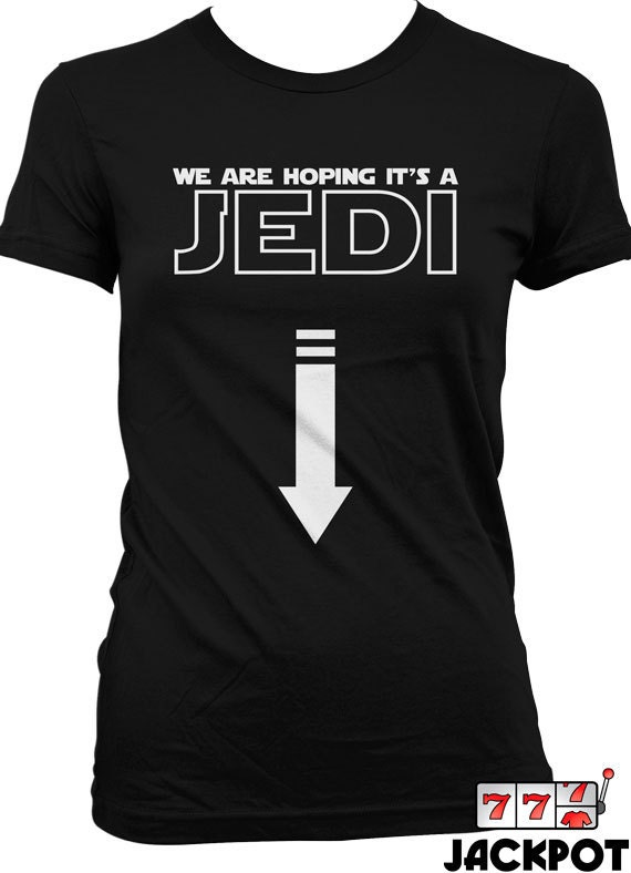 Funny Pregnancy Shirt We Are Hoping For A Jedi T Shirt Gifts