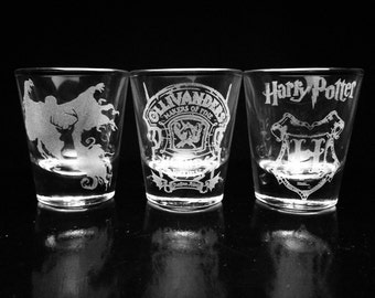 Harry Potter Shot Glass Set - Set of 3- Ollivanders