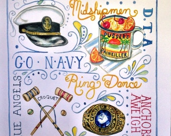USNA, United States Naval Academy, Commissioning Week, Annapolis, print