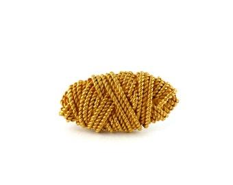 "BALENCIAGA * Gorgeous vintage ""Rope"" brooch"