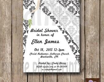 Wedding Bridal Invite - Bridal Shower Invite - Wedding Invite - Print at Home