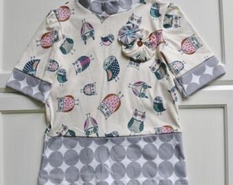 Owl and Polka Dot Mod Dress