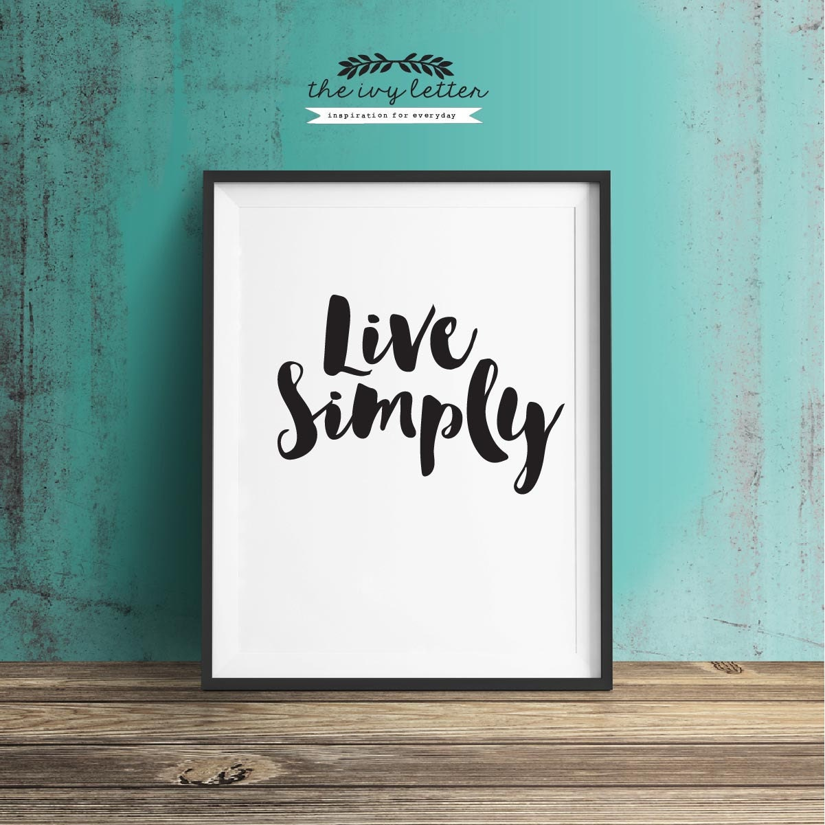 Live simply quote printable art inspirational quote wall art for Live simply wall art