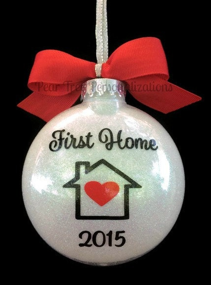 first home ornament our first home christmas by peartreepersonal
