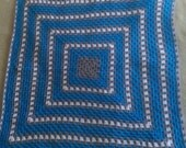Crochet Granny Square Afghan Throw Blanket Made to Order Customize Size and Color Pattern Crochet Blanket Custom Heirloom Handmade